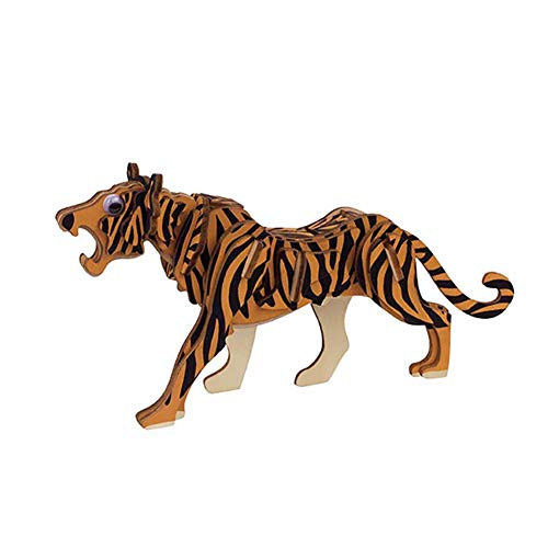 URYY 3D Wooden Puzzles DIY Animal Model Crafts Kits Education Kids Toy Gift