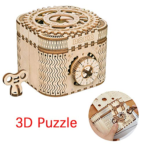 3D Puzzle Mechanical Model to Build Wooden Craft Kit for Teens and Adults DIY Assembly Toy Gifts Holidays BirthdaysTractor