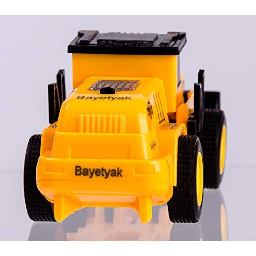 Bayetyak Deformation Cars for Kids Age 3-7Construction Truck Road Roller Toys Best Birthday xmas Gifts 6-10 Ages Inertial Engineering Vehicle Transformation Robot Boys Girls