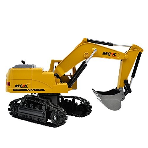 Simulation Toy Rc Excavator Toys with Musical and Light Children's Boys Truck Beach Engineering Car Tractor