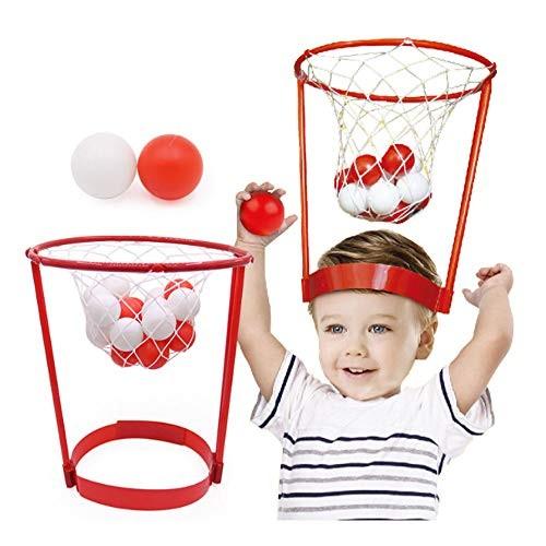 JXH Head Basketball Hoop with 20Pcs Balls Adjustable Head Hoop Game Shooting Ball Sport