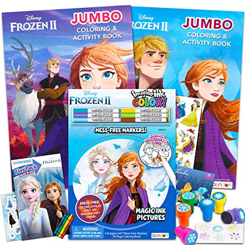 - Disney Frozen Coloring Book Ultimate Activity Bundle For Girls Kids  Toddlers ~ 21 Pcs Imagine Ink Color Jumbo Books Stickers Stampers And More  Disney Party Supplies - Educational Toys Planet