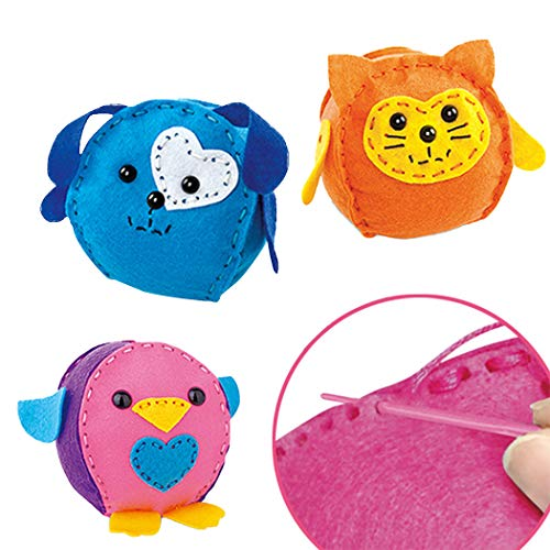 Coxeer Kids DIY Craft Kit Fashion Nonwoven Animal Creative Educational Toy for Toddlers Toys