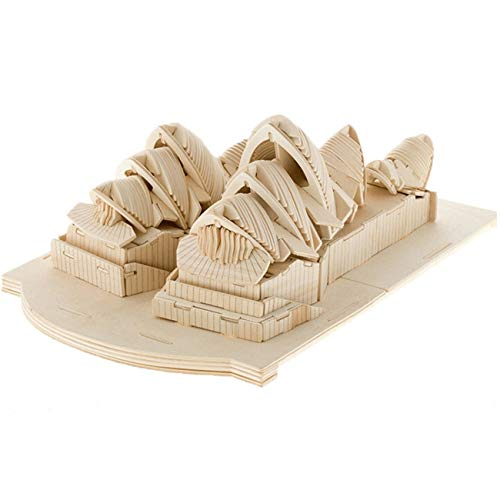 FUB Wooden Ship Model Sydney Opera House 3D Jigsaw Puzzle for Adults Laser Engraving DIY Safe Kit Toy Teens and Self-Assembly Wood Crafts Gifts