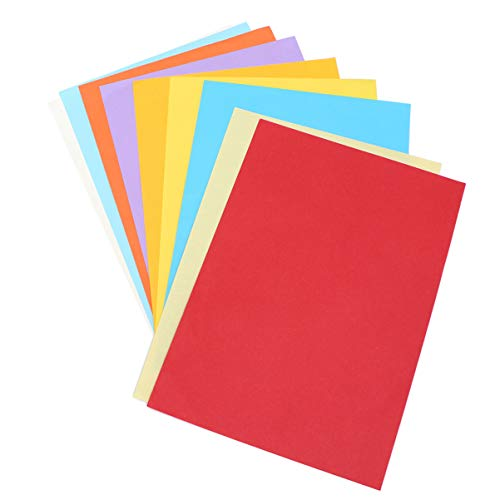 Exceart 100 Sheets Color Copy Paper Printer Construction Pack Crafts Kids Art Painting Coloring Drawing Creating