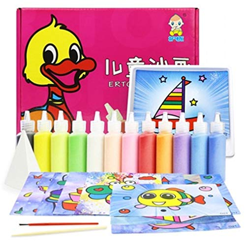Sand Painting 12 Colors Art Kit Drawing Different Craft Toy Gift girl