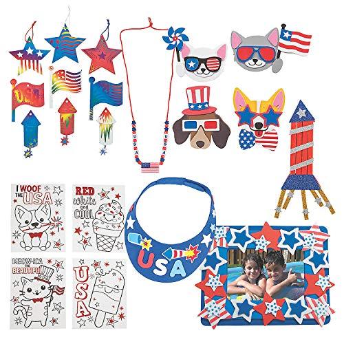 Patriotic Craft Boredom Buster Kit – Kits 108 Pieces