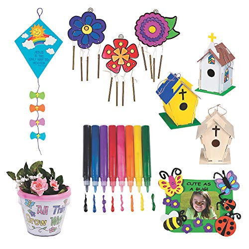 Spring Religious Craft Boredom Buster Kit – Kits 68 Pieces
