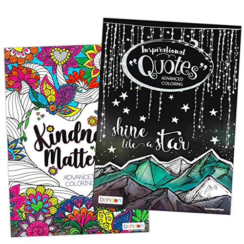 Bendon Publishing Advanced Inspirational Coloring Books For Adults And  Teens-- Pack Of 2 Premium Kindness Adult - Educational Toys Planet