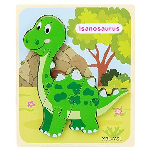 LOadSEcr Kids Toys 3D Dinosaur Wooden Building Block Jigsaw Puzzle Intelligent Educational Toy Children Entertainment Y-S-L