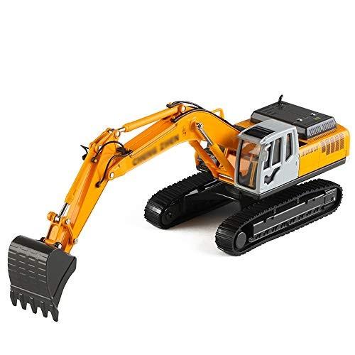 xolye Alloy Excavator Toy Car Metal Engineering Vehicle Crawler Drop-Resistant Children's Inertial Sliding Boy Gift