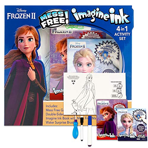 Disney Frozen 2 Imagine Ink 4 in 1 Activity Set Elsa and Anna Magic Mess Free Coloring Disney Party Supplies
