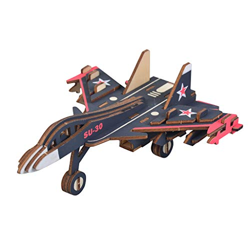CAIfnv 3D Wooden Airplane Puzzle Assemble Toy DIY Model Craft Kit-Home Decoration Good Birthday Day Gift for Friends