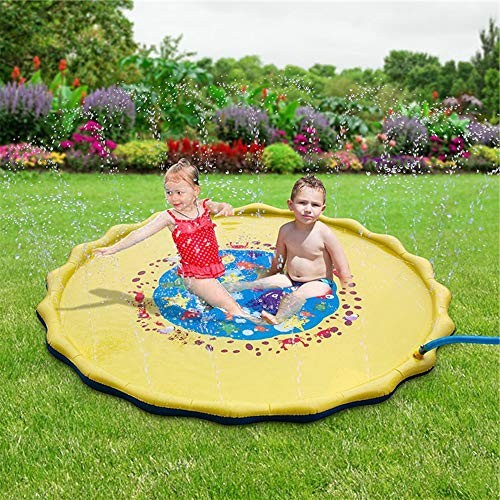 Kosiehouse Inflatable Pool Sprinkler Pad Splash Play Mat Outdoor Backyard Water Fountain Toys Infant