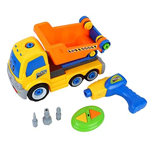 Neufday Engineering Car ToyRC Child Disassemble Nuts Electric Drill Model Educational Toy Type A