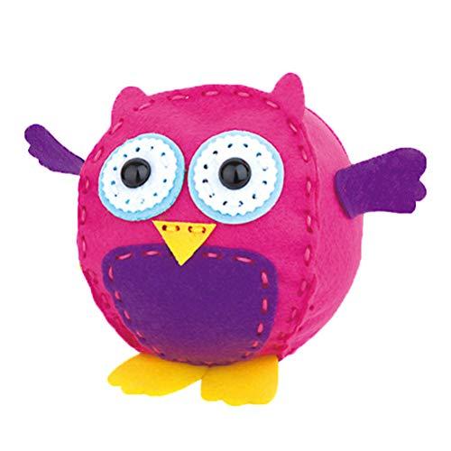 Toyvian Kids Sewing Kit Owl Stuffed Animal DIY Craft and Sew Kits for Girls Boys
