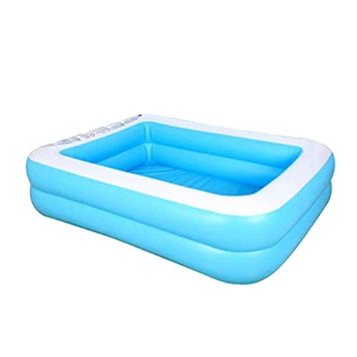 Wasvidra Inflatable Swimming Pools Blow up Kiddie Pool Family for Outdoor Garden Backyard Children's Inflation Baby Ocean Ball Sand Bath Toys Square