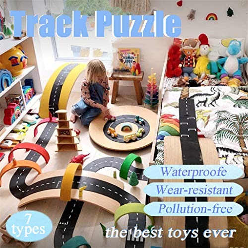 3D Assembly PVC Track PuzzleGenamis 8 Flexible Roads Model Puzzles KitsDIY Hand Craft Mechanical Game ToyMechanical Toys Gift for Teens and Adults