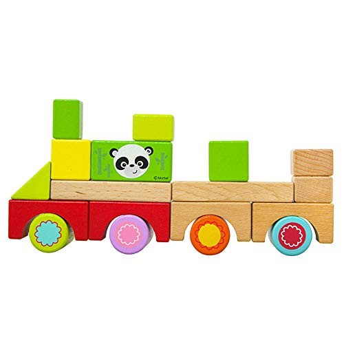 CCM Wooden Building Blocks Educational Toys 80 Pieces Children's Stack Learning Toy Set Px