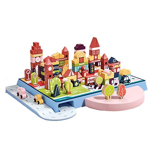 CCM Educational Toys Wooden Assembled 108 Children's Brain Enlightenment Building Block yy
