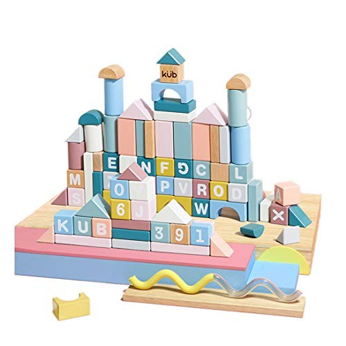 CCM Puzzle Assembled Toys 88 Wooden Building Blocks Set Early Childhood Education yy