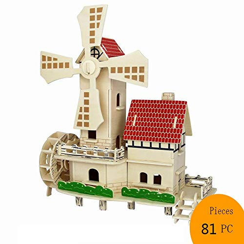 3D Wooden Puzzle DIY Model Craft Kit-Home Decoration-Best Educational Birthday Day Gift for Friends Son Adults