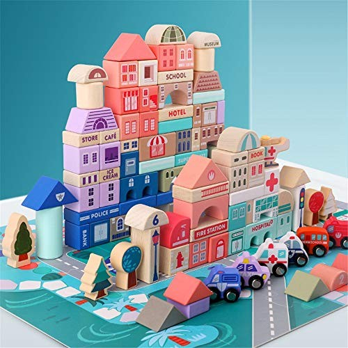 CCM Building Toy Children's Wooden Puzzle Educational Blocks Creative 3-6 Years Old Toys PL