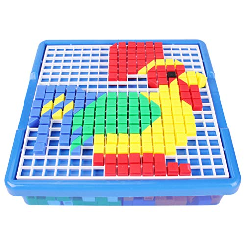 Mosaic Puzzle Toys Nails Pegboard Educational Building Blocks Bricks Plaything DIY for Children Kids Toddler Gift
