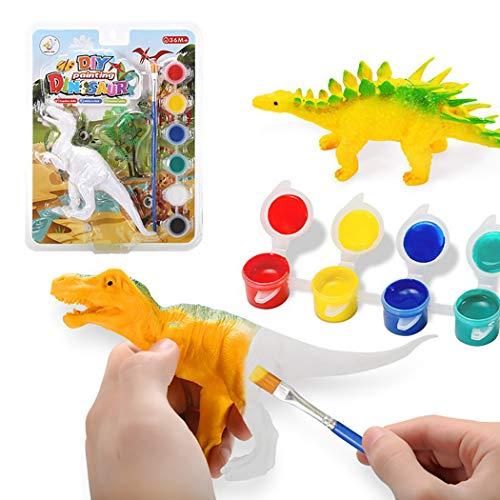 FunPa Dinosaur Figurines Craft Kit DIY Toy Handmade Painting for Children
