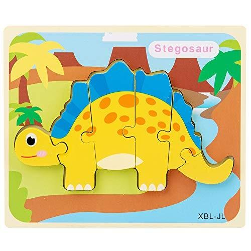 Fanthee Jigsaw Puzzle ToyKids 3D Dinosaur Wooden Building Block Intelligent Educational Toy JL