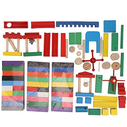 Jarchii Set of Domino Building Block 300pcs Wooden Kit Children Kids Educational Toy Gift