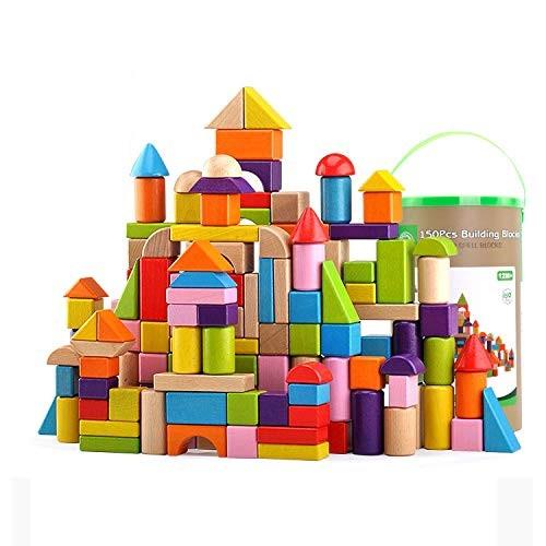 CCM Educational Assembling Toys Children's Building Blocks Large Particles Wooden Barrels 100-150 Tablets Px80PCS