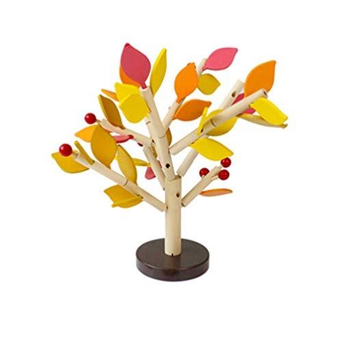 Artibetter Wooden Tree Toy Creative Wood Building Blocks 3D Set DIY Learning Educational Preschool Toys Yellow