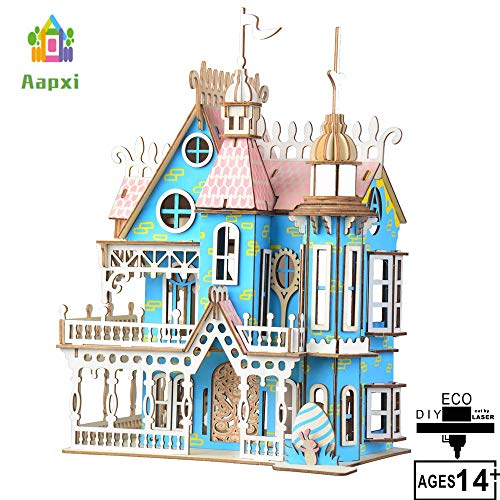 Adult Jigsaw 3D Wooden Assembled Toys-DIY Model Fantasy Villa Crafts Kit-Home Decoration-Best Educational Birthday Gifts for Friends and Sons