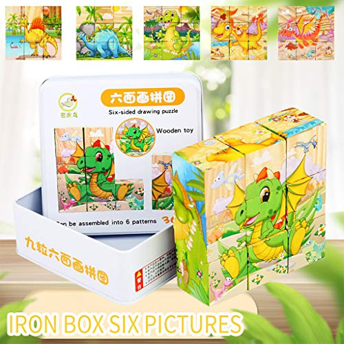 3D Assembly Wooden PuzzleGenamis Cartoon Little Dinosaur Wood Model Puzzles KitsDIY Hand Craft Mechanical Game ToyMechanical Toys Gift for Teens and Adults