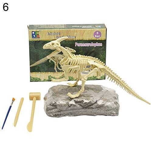 NA Dinosaur Fossil Skeleton Excavation Dig up Kit DIY Assembly Educational Kids Toy Display Mold – Parasaurolophus