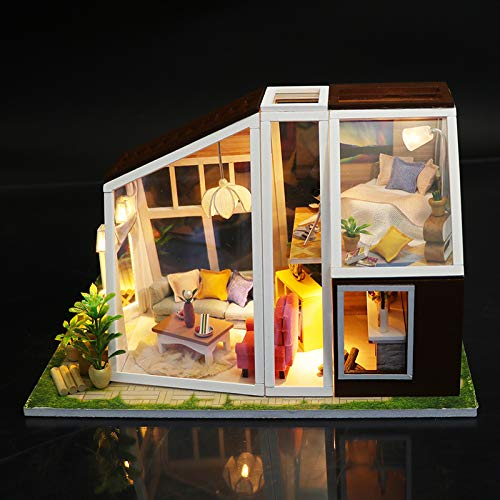 ZCxBHD Miniature 3D Craft Kits Dolls House with Furniture and Accessories Educational Toys for Girls