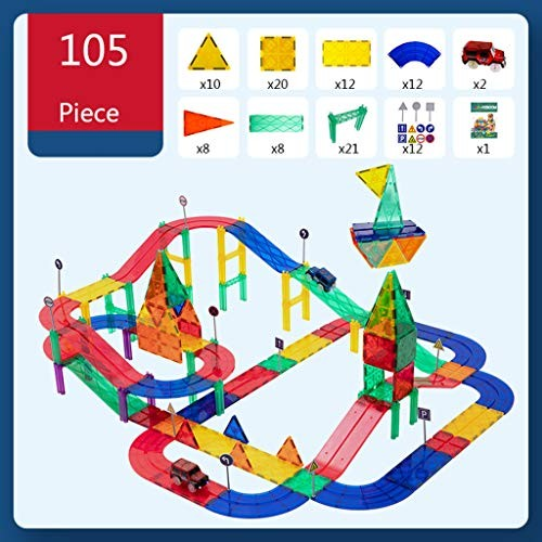 kids toys Magnetic Building Bricks Children's Educational Toy Track Design Magnet Male and Female Baby 3-6-9 Assembled Blocks Film Color Window