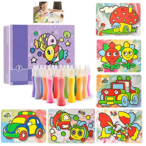 FQMAO Coloured Decorative Sand Craft Play Children's Art Activity Multi Make Your Own Kit Children DIY Painting