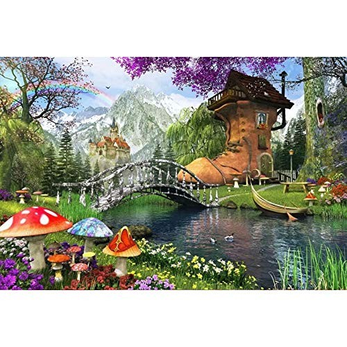 Adult puzzle toy game 1000 pieces luminous wooden gift children's building block anime puzzle-4