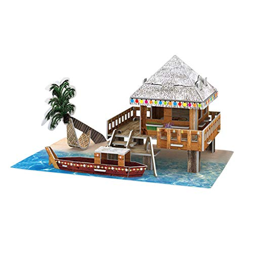 Houshelp 3D Mini House Crafts DIY Model Kits Best Birthday Gifts for Teens Chinese Style Paper Puzzle