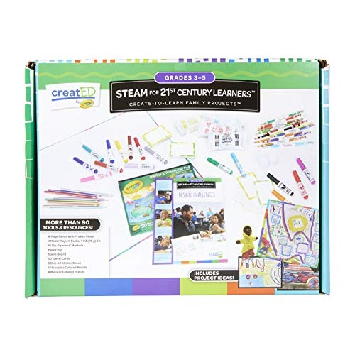Crayola Created Family Engagement Kits STEAM for Grades 3-5 Learning Games Multi