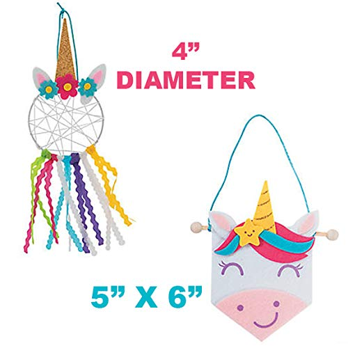 Craft Kits for Kids 2 Complete DIY Arts and Crafts Projects – Unicorn Theme Art Supplies- Family Homeschool Party Favors Preschool Curriculum Educational Hands-On Learning Stay at Home Fun