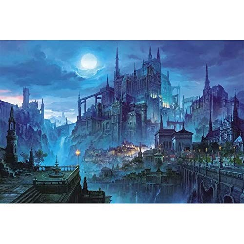 SMLCTY 1000 Pieces of Castle Night Wooden PuzzleChildren's Building Blocks Educational ToysPerfect Family Game GiftThe to Eliminate Stress