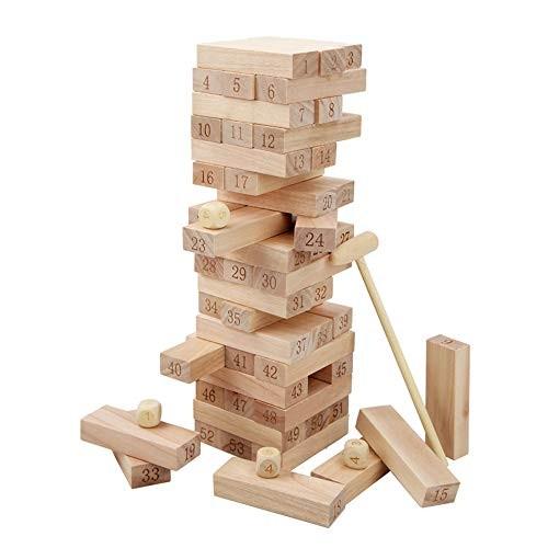 CCM Children's Puzzle Wooden Building Blocks Layered Block Tower Parent-Child Kettle Bottom Draw Game Desktop Toy Px