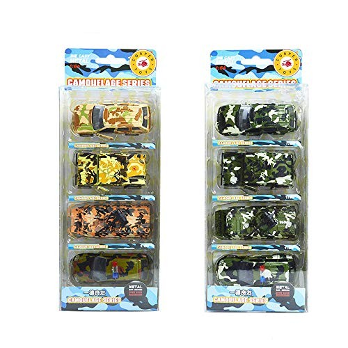 CORPER TOYS Military Vehicle Die Cast Army Toy Pull Back Cars Pocket Size Play