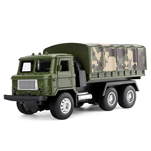 CORPER TOYS Military Truck Army Armored Model Car Soldier Carrier Cargo Transport Vehicle Metal