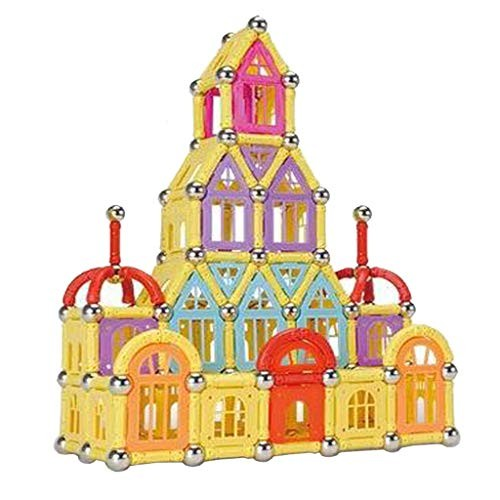 Children's Puzzle Magnetic Stick 400 Pieces of Iron Building Blocks Assembled Toys 3-6-7-8-9-10 Years Old boy Boxed Random Colors