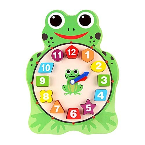 Kids Clock Toy Wooden Animal Puzzle 12 Numbers Match Child Early Educational Gifts Cute Cartoon Baby Building Blocks Children Gift for Kid