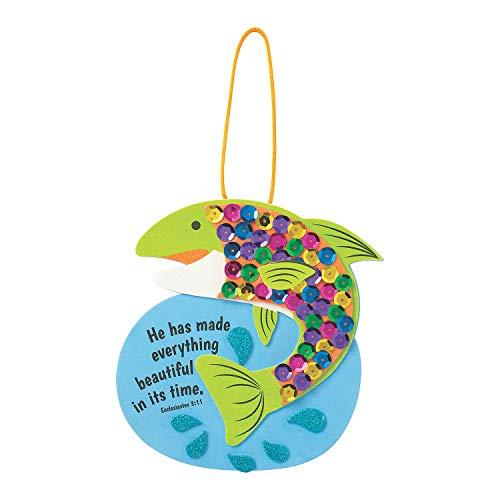 Railroad VBS Colorful Faith Fish Craft Kit – Kits 12 Pieces